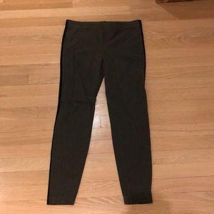Madewell grey leggings with black stripe on side